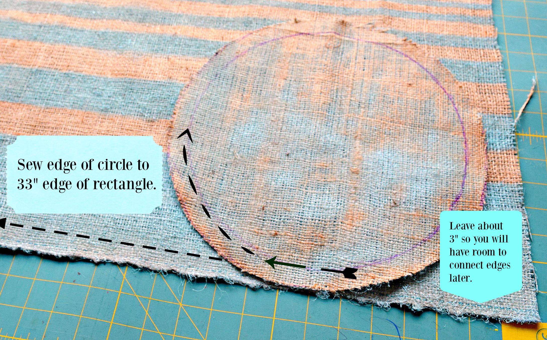 planter tutorial sewing edges